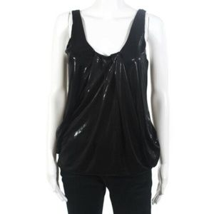 Diane Von Furstenberg Shimmery Black Party Top 2